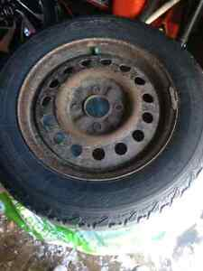4 Steel rims with winterforce rubbers