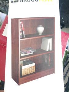 Akada Home Bookshelf Bookcase Wardrobe Walnut New in Box Sealed
