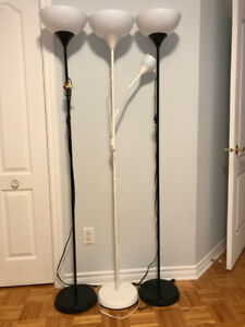 5 Ikea Floor Lamp - model NOT with bulbs