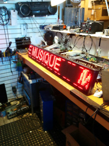 LED message sign.