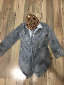 REDUCED TO $3 - Scary Mask & Bloody Lab Coat Costume-CHILD SIZE