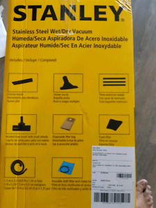 Stanley stainless steel wet and dry vacuum