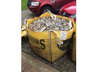 Bulk bag of wood chipping a (not bark)