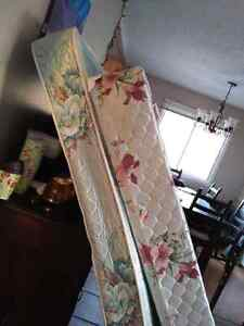 Single bed with boxspring and frame 100$ obo