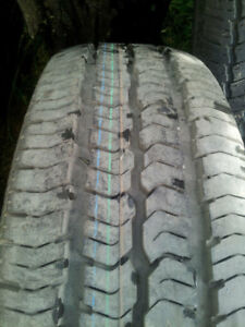 One, like new Toyo Extensa A/S5 ply tubless steel belted radial