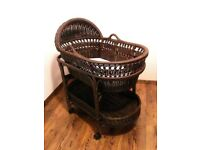Moses Basket (Pottery Barn) plus free Bumboo seat with table