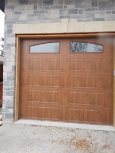 SPECIAL Brand New Wood grain garage door 10x9 thermo glass