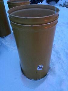 45 gallon metal drum