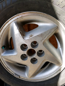 Great set of rims and  tires  with TPMS for sale