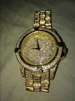 Simulated iced out watch