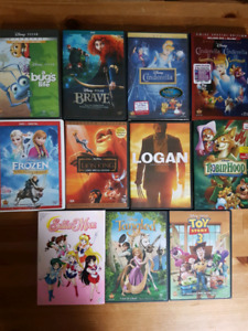 Disney Dvds and more.... Sailor Moon, Logan etc.