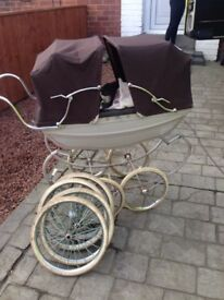 Silver cross child's twin buggy