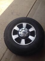 18 ford lariat rims with Michelin LTX A/T 2