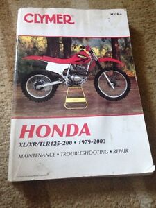 Honda xl xr tlr 125-200 1979-2003 repair book