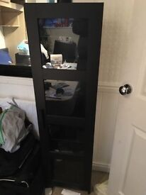 2x IKEA Display Cases Black.
