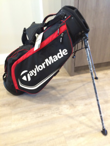 Brand NEW: TaylorMade, Golf bag and stand, with Sleeman ensignia