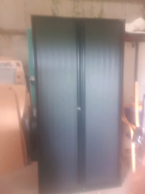 Full size bisley tambour storage cabinet