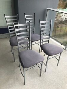 SELLING 4 GREY DINING CHAIRS