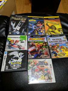 Gamecube, DS, 3DS games including Melee and Double Dash