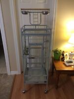 Bird Cage and Play Stand for Sale