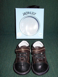 BRAND NEW! Jack & Lily BABY SHOES - 12-18 months + NEW SOCKS!