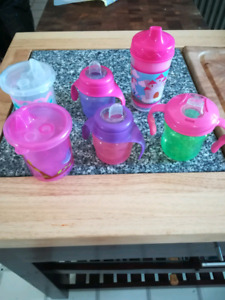 6 girls Sippy cups