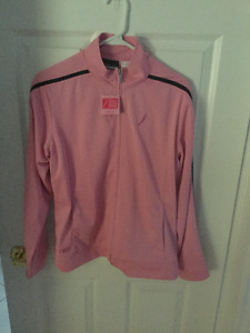 Pink zip up jacket never worn $15