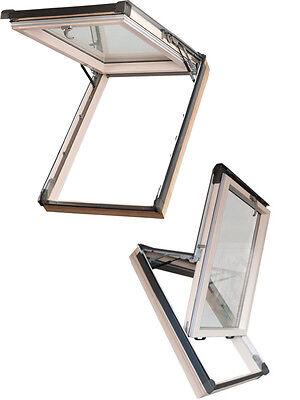 Dachfenster Schwingfenster 55x98 98x55 mit Eindeckrahmen Dauerlüftung