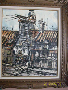Toile signée par artiste peintre M. GERVAIS, Québec,'70