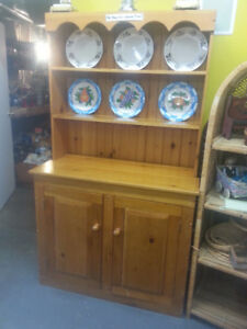 SOLID PINE DISPLAY / CABINET WAS $795.00 NOW $395.00