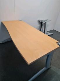 Steelcase beech office desks
