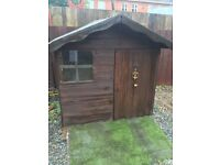 4x6 wooden playhouse/shed