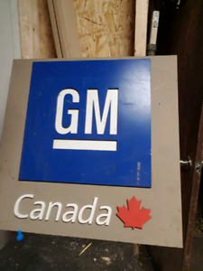 Authentic GM Canada sign