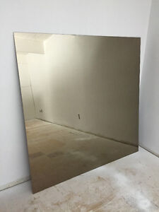 Large Rose Quartz Square Mirror 5' x 5""