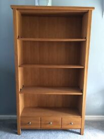 Solid oak bookcase from next