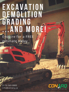 Excavation Demolition and Grading: ask for a FREE estimate today