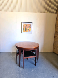 Danish Mid Century Table Chairs by Frem Rojle