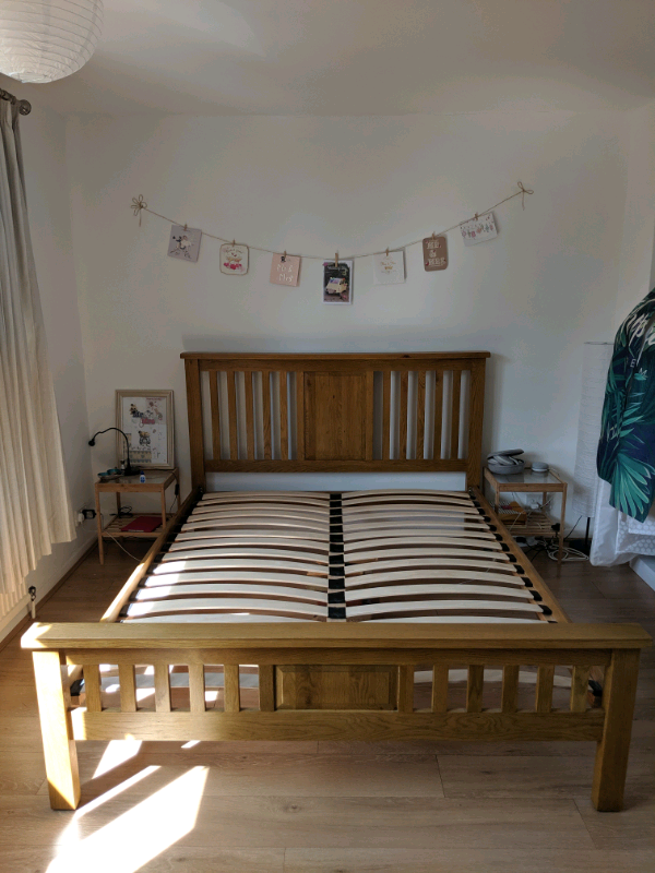 c26258121719 Solid Oak King Size Bed Frame | in Worthing, West Sussex | Gumtree