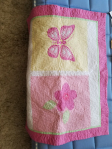 Girls Knitted quilt/pillow shams