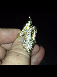 Snake Ring Covered With Swarovski Crystals - $20.00