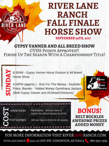 SUNDAY - FALL FINALE HORSE SHOW (JACKPOT & BUCKLES)
