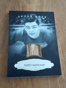 CARTE HOCKEY CARD TERRY SAWCHUK STICK - BATON