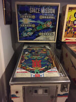 1977 Williams Space Mission Pinball Machine Great Condition