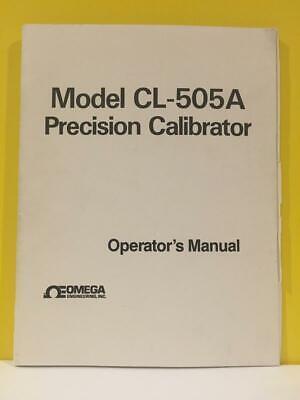 Omega Model Cl-505a Precision Calibrator Operators Manual