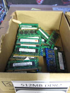 Used Laptop RAM 512MB DDR2 Untested (Per Stick)
