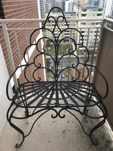 Traditional Wrought Iron Bench