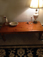 Solid wood Coffee table and 2 side tables in excellent condition