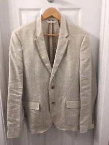 Complet zara man lin linen costume sport suit toxedo