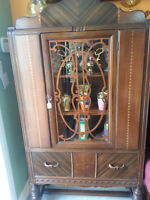 ART DECO CHINA CABINET NOW 295.00 2ND ANNIVERSARY  SALE