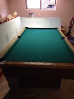Pool Table and Accessories (cues,balls, rack, chalk, etc.)